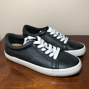 NEW Frye black leather Kerry skate sneakers 8M